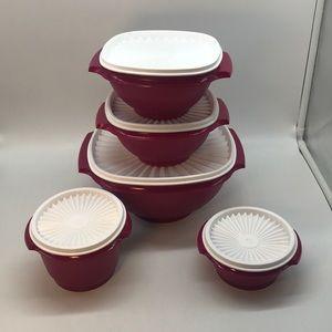 Tupperware Servalier  Set of 5
